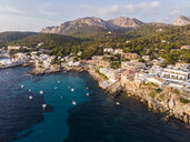 Spain, Balearic Islands, Mallorca, Aerial view of Bay of Sant Elm - AMF06109