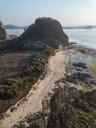 Indonesia, Lombok, Aerial view of coast near Kuta - KNTF02275