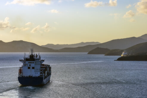 New Caledonia, Noumea, tanker ship in the evening - THAF02284
