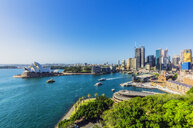 Australia, New South Wales, Sydney, Sydney Opera House and city view - THAF02286