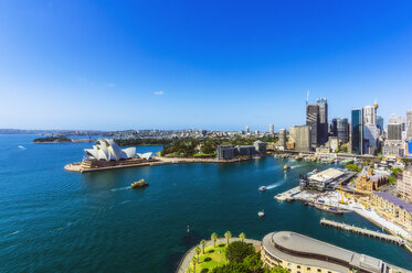 Australia, New South Wales, Sydney, Sydney Opera House and city view - THAF02289