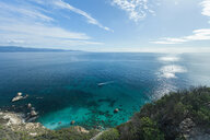View of sea from hilltop, Piscinas, Sardinia, Italy - CUF46516