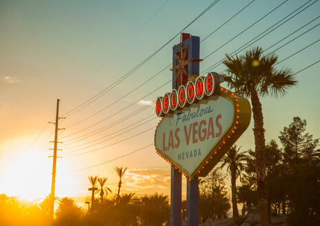 The 'Welcome to Las Vegas' sign, Las Vegas, Nevada, USA - ISF20089