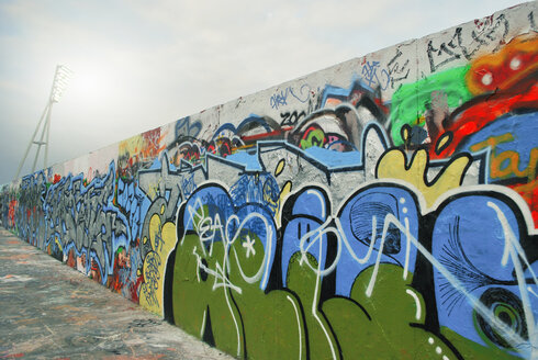 Prenzlauer berg graffiti wall in berlin - INGF03980