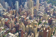 High angle cityscape of New York City, USA - LUXF01771