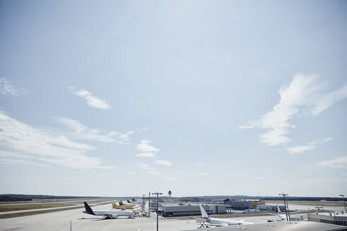 Germany, Cologne, planes at of airport - RHF02195