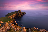 Neist Point at sunset over Skye in Scotlant - LUXF02042