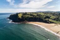 Spain, Asturias, Aerial view of beach - MGOF03825
