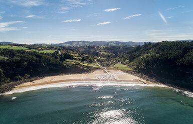 Spain, Asturias, Aerial view of beach - MGOF03831