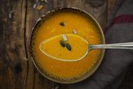Pumpkin soup with pumpkin and sunflower seeds - LVF07507