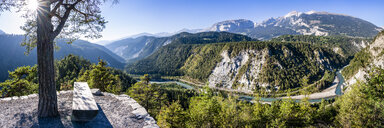 Switzerland, Grisons, Ruinaulta , Rhine canyon - STSF01769