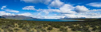Chile, Patagonia, Magallanes y la Antartica Chilena Region, Torres del Paine National Park, Cuernos del Paine, Lago del Toro - AMF06132