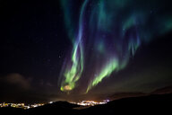 Glows of northern lights with shining stars on the sky - INGF05461