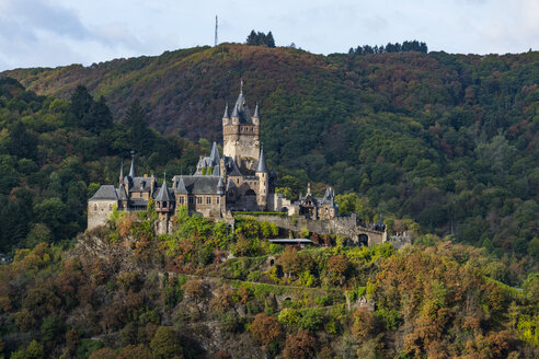 Germany, Rhineland-Palatinate, Cochem, Cochem castle - RUNF00132