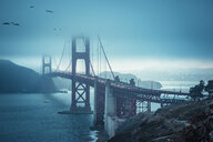 USA, California, San Francisco, Golden Gate Bridge in the evening - FCF01602