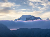 Border region Italy Switzerland, mountain landscape with snowcapped Ortler - LAF02163