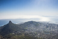 South Africa, Cape Town, city view from Table mountain - RUNF00184