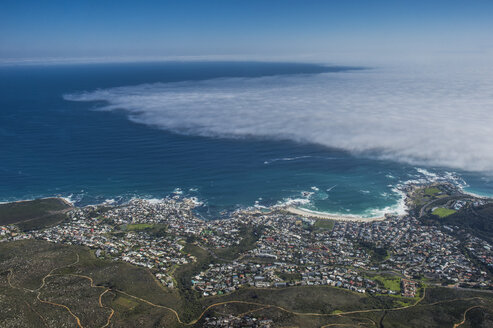 South Africa, Cape Town, Camps Bay seen from Table mountain - RUNF00187