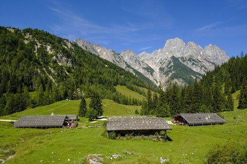 Germany, Bavaria, Berchtesgadener Land, Berchtesgaden Alps, Klausbach Valley, Bindalm, Muehlsturzhoerner mountain - LBF02193