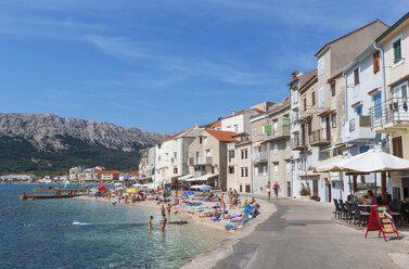 Croatia, Kvarner Gulf, Baska, beach - WW04429