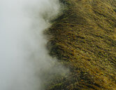 High angle view of hill by clouds - CAVF54189