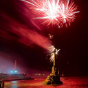 Grand firework display over the river - INGF07341