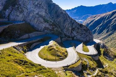 Switzerland, Ticino, Aerial view of Gotthard Pass - STSF01796