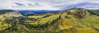 Germany, Bavaria, Oberallgaeu, Allgaeu Alps, Aerial view of Riedberg Horn, panorama - STSF01811