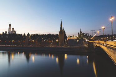 Russia, Moscow, The Kremlin embankment with heavy traffic - WPEF01090