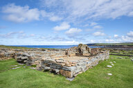 Great Britain, Scotland, Orkney, Mainland, Brough of Birsay, settlement remains, old monastery from 11th Century - ELF01940