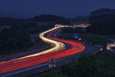 Germany, Taillights on highway - RUEF02057