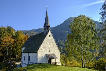 Germany, Upper Bavaria, Chiemgau, near Schleching, Streichen Church - LBF02261