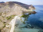 Indonesia, Sumbawa, West Sumbawa, Aerial view of Jelengah beach - KNTF02322