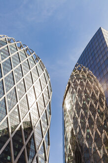 France, Paris, La Defense, facades of two office towers - WD04896