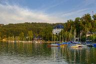 Austria, Land Salzburg, Flachgau, Mattsee, Mattsee Castle, view from lake - LBF02263