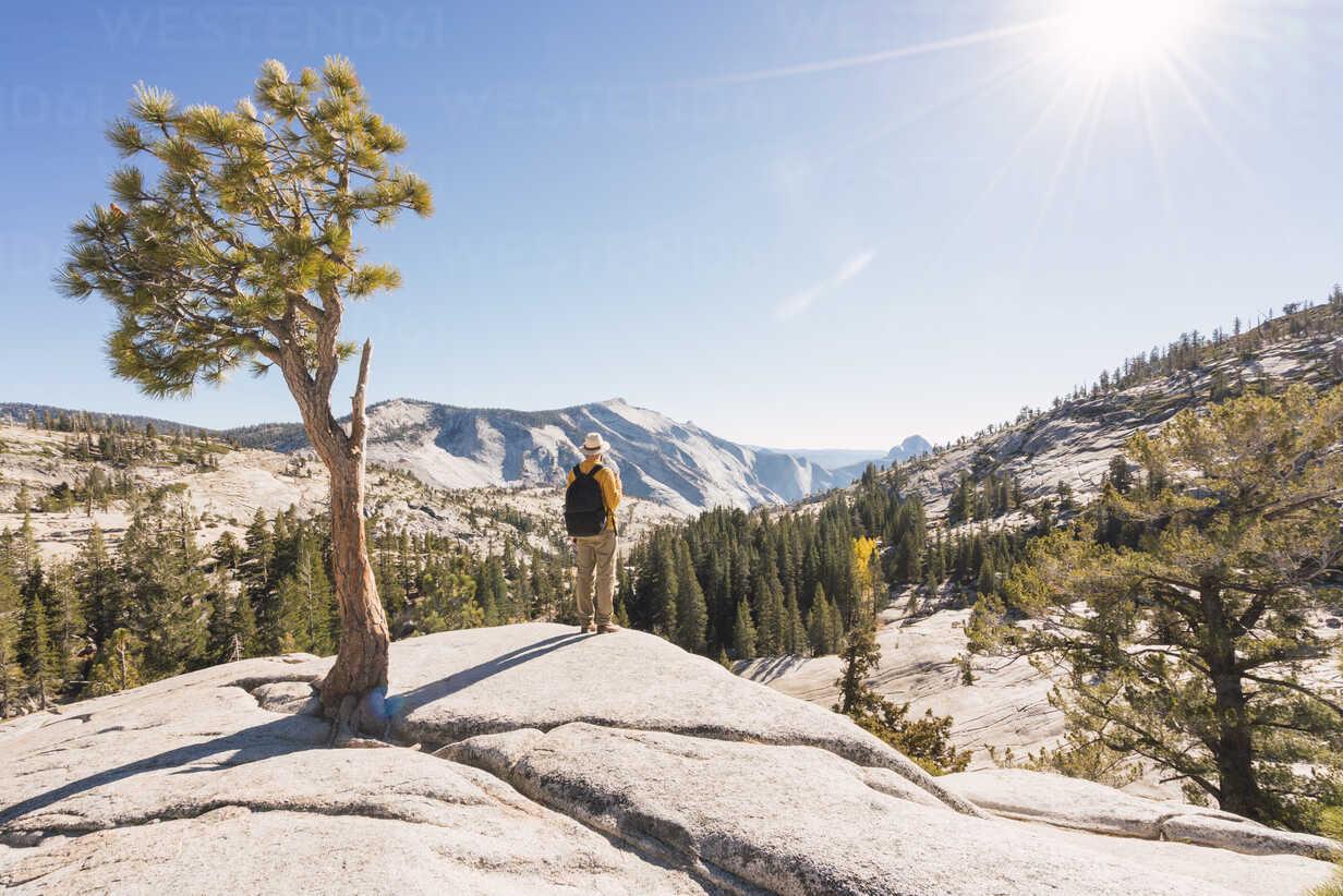 USA, California, Yosemite National Park, hiker standing on viewpoint - KKAF03017 - Kike Arnaiz/Westend61