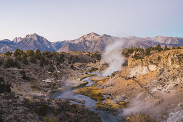 USA, California, Hot creek in Mammoth Lakes - KKAF03023