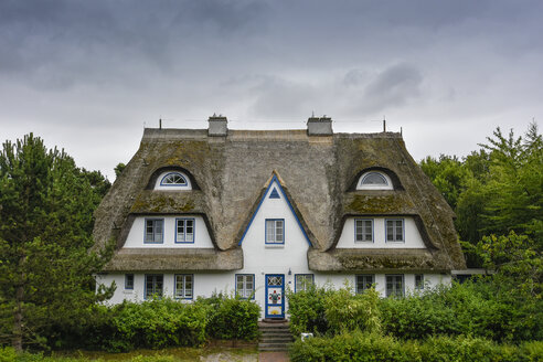 Germany, Zingst, thatched-roof house - FDF00255