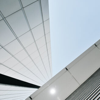 Low angle view of building against clear sky. - INGF07724