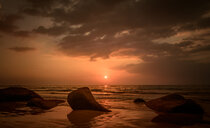 Scenic nature view of the sea during sunset in Thailand - INGF07814