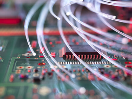 Fibre optics attacking electronic circuit boards with a virus - ABRF00247