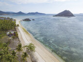 Indonesia, West Sumbawa, Kertasari, Aerial view of beach - KNTF02366