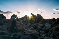 Rocks on the beach during a beautiful sunset - INGF07846