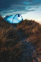 A tent on the beach out in nature - INGF07966