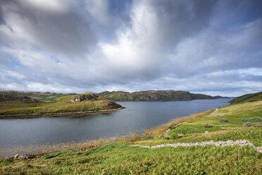 United Kingdom, Scotland, Scottish Highland, Sutherland, Kinlochbervie, Loch Inchard and sunlight - ELF01957