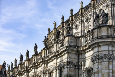 Germany, Dresden, part of facade of Catholic Church of the Royal Court of Saxony - JATF01084