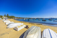 Australia, New South Wales, Sydney, Watson Bay, beach with boats - THAF02385