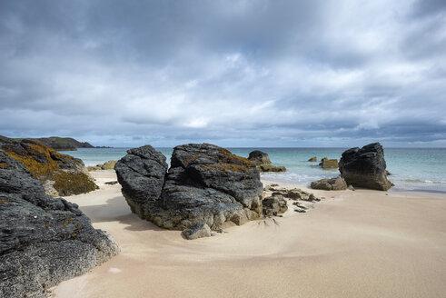 United Kingdom, Scotland, Sutherland, Durness, Sango Sands, rocky coast - ELF01965