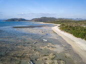 Indonesia, West Sumbawa, Aerial view of Jelengah beach, Scar reef surf beach - KNTF02429