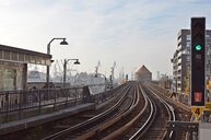 Empty train tracks at Baumwall station in Germany - INGF08541